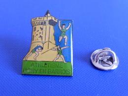 Pin's Ligny En Barrois - Javelot Saut Chateau - Course à Pied Athlétisme (PE76) - Athletics
