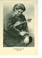 CPAS Antoine Ysaye 1958 Avec Portrait De Son Père Eugène Ysaye Sur Carton Glacé - Chanteurs & Musiciens