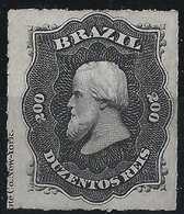 Brésil Don Pedro N°35( ), 200 Reis Neuf Avec Marque De L'imprimeur RR - Neufs