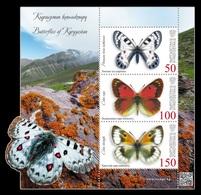 Kyrgyzstan (KEP) 2018 Mih. 103/05 (Bl.29) Fauna. Butterflies MNH ** - Kirgisistan