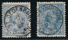 Nederland - Y&T 35 - Stempels St Oederode & Stad A/ 't Haringenvliet - Centrale Stempels - Periode 1891-1948 (Wilhelmina)