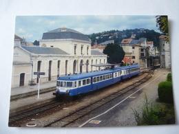 VILLEFRANCHE De ROUERGUE (12) : Aurorail X 2812 Et XR 6070 En Juillet 1995 - Ligne CLERMONT TOULOUSE- Voir 2 Scans - Trains