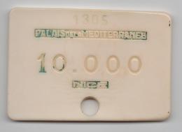 Plaque : Casino Palais De La Méditerranée Nice 10.000 Francs : Numérotée 1305 - Casino