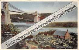 LLANFAIRE Church - Menai Suspension Bridge - Wales