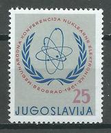 Yougoslavie YT N°842 Conférence De L'énergie Nucléaire Neuf ** - Ungebraucht