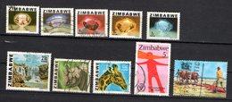Zimbabwe Scott N°414.415.416.417.419.422.424.462b.438.oblitérés - Zimbabwe (1980-...)