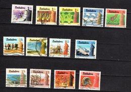 Zimbabwe Scott N°493/499.501.502.504.505.509.512..oblitérés - Zimbabwe (1980-...)