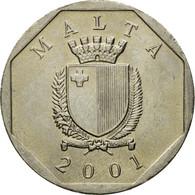 Monnaie, Malte, 50 Cents, 2001, British Royal Mint, TTB, Copper-nickel, KM:98 - Malte