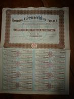 1928  ACTIONS ----> HOLDING COMMERCIALE De FRANCE - Agriculture
