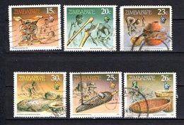 Zimbabwe Scott N°620.621.622.623.624.625.oblitérés - Zimbabwe (1980-...)