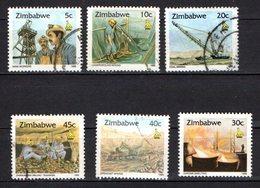 Zimbabwe Scott N°724.725.726.727.728A.728..oblitérés - Zimbabwe (1980-...)