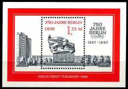 DDR - Mi Block 89 = 3123 - ** Postfrisch - 1,35M  750 Jahre Berlin III - [6] Oost-Duitsland