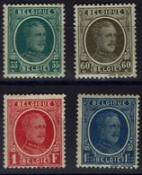 Belgie Belgien Belgium 1927 - Albert I - Houyoux - OBP 254-257* - Neufs