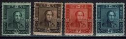 Belgie Belgien Belgium 1949 - Eeuwfeest Belgische Postzegel - Leopold I - OBP 807-810* - Belgium