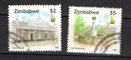 Zimbabwe Scott N°733.734.oblitérés - Zimbabwe (1980-...)