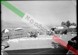 BOCCA DI MAGRA FIUMARETTA MARINELLA VISTI DAL RISTORANTE BELVEDERE LASTRA NEGATIVO BIANCO NERO CARTOLINA 7323 '50s - Plaques De Verre