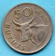 T10/  GAMBIA / GAMBIE  50 BUTUTS 1971  KM#12 - Gambie