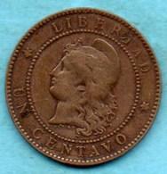 T10/ ARGENTINA / ARGENTINE  1 CENTAVO 1884 - Argentina