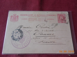 Carte Entier Postal De Curacao De 1899 A Destination De France - Curaçao, Nederlandse Antillen, Aruba