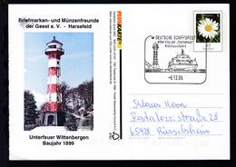 """DEUTSCHE SCHIFFSPOST Elbe-city-Jet """"Hansestar"""" Nikolausfahrt 6.12.06 - Allemagne"""