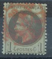N°25 NUANCE OBLITERATION. - 1863-1870 Napoléon III Lauré
