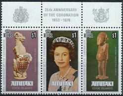 Aitutaki 1978 - Silver Cornation Of Queen Elisabeth II ( Mi 295/97 - YT 227/29 ) MNH** - Aitutaki