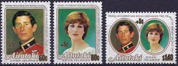 Aitutaki 1981 - Royal Wedding ( Mi 409/11 - YT 317A/C  ) MNH** Complete Series - Aitutaki