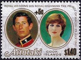 Aitutaki 1981 - Prince Charles And Lady Diana : Royal Wedding ( Mi 411 - YT 317C  ) MNH ** - Aitutaki