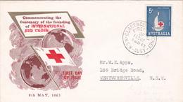 Australia 1963 Centenary Of Red Cross, Parade FDC - FDC