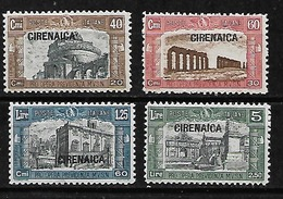 #187# CIRENAICA YVERT 37/40 MNH** NUMERATION BY PENCIL ON THE BACKSIDE. SEE SCANS. - Cirenaica