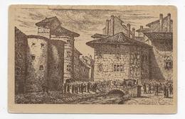 (RECTO / VERSO) SAINT ETIENNE - COMMUNE LIBRE DU VIEUX ST ETIENNE - ENTREE DU MARQUIS DE PONCINS EN 1682 - CPA - Saint Etienne
