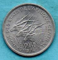 T10)  ETATS AFRIQUE CENTRALE 1 Franc 1974 Km#8 - Centrafricaine (République)