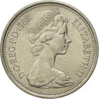 Monnaie, Grande-Bretagne, Elizabeth II, 5 New Pence, 1968, TTB+, Copper-nickel - 1971-… : Monnaies Décimales