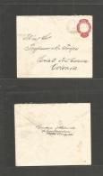 Brazil -Stationary. 1896 (3 June) E. De Garahuns, Pernaulbaco - Colonia. 100rs Red Stat Env. VF TPO Origin Usage. - Non Classés