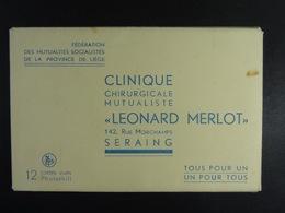 Carnet 12 Cartes Clinique...Léonard Merlot Seraing - Seraing