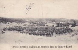 Camp De Beverloo Régiment De Cavalerie Dans Les Dunes De Kamel Circulée En 1913 - Leopoldsburg (Kamp Van Beverloo)