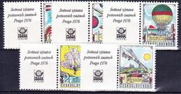 ** Tchécoslovaquie 1977 Mi 2396-2400 Zf (Yv 2232-6 Avec Vignettes), (MNH) - Czechoslovakia
