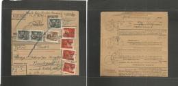 Hungary. 1946 (21 Febr) Nagybajom - Budapest. Hyper Inflation Period. Multifkd Ovpt Stat Package Card. Fine. - Hongrie
