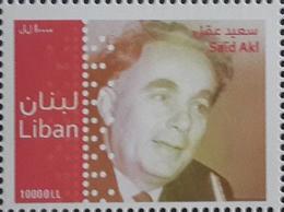 Lebanon 2011 MNH Mi 1540 MNH Stamp, Said Akl, Famous Poet - Liban