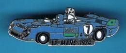1 PIN'S // ** LE MANS / 1974 / MATRA SIMCA MS 670B / PILOTES Henri PESCAROLO & Gérard LARROUSSE ** - F1