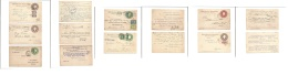 """Mexico - Stationery. 1913-17. Hidalgo Embossed Stationary Cards. Group Of 7 Diff Incl """"""""Barrilito"""""""" """"""""Revolution"""""""" Ovpt  - Mexique"""