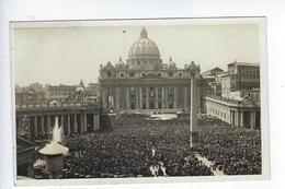 CPA Carte Photo Vatican Rome Place Saint Pierre Bénédiction Urbi Et Orbi Pie XI 1933 - Vatican