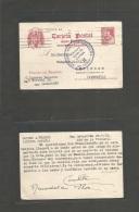 E-Enteros Postales. 1939 (24 April) San Sebastian - Alemania. EP 45c. Cervantes Rosa Con Censura. Escaso Circulado. Boni - Non Classificati