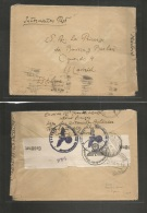 Switzerland - Xx. 1944 (Jan) French Internees At Konstanz, Bodensee - Spain, Madrid. Free Mail. Nazi + Spanish Censorshi - Suisse