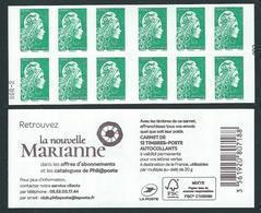 CARNET 12TP YSEULT YZ - TVP LV -  LA NOUVELLE MARIANNE - MENTION RGR-2 - NEUF - NON PLIE - Carnets