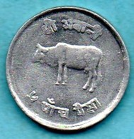 T10/  NEPAL  5 PAISA  2031 ( 1974)   KM#802 - Nepal