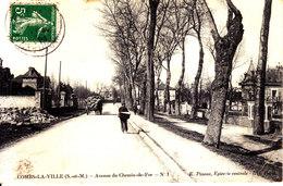 77 . Seine Et Marne .  Combs La Ville .  Avenue Du Chemin De Fer - Combs La Ville