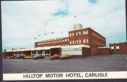 United Kingdom PPC Hilltop Motor Hotel, Carlisle Slogan Flamme CARLISLE Cubria 1975 (2 Scans) - Cumberland/ Westmorland