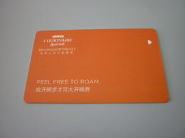 China Beijing Northeast Courtyard Marriott Hotel Room Key Card - Cartas De Hotels