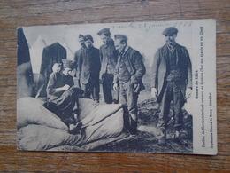 """Carte Assez Rare De 1915 , Fusilier De Northumberland , Cousant Ses Boutons """" Carte Avec Franchise Militaire """" - Guerre 1914-18"""